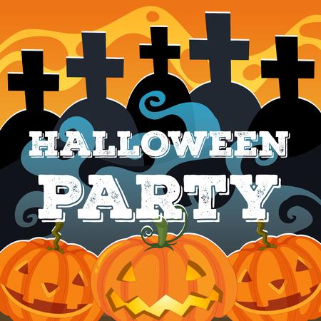 jack'o'lantern: Halloween theme with jack-o-lantern illustration Illustration