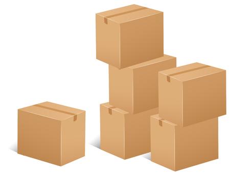 apilar: Pila de cajas de cartón ilustración