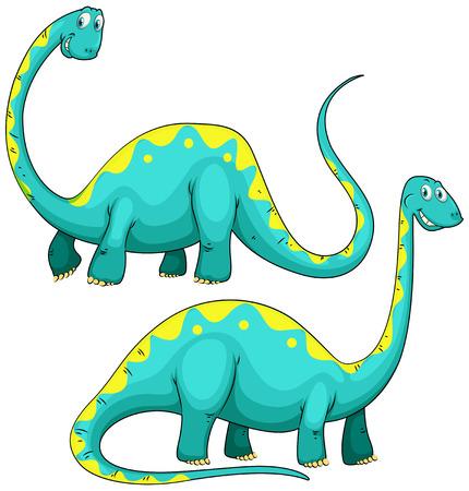 cuello largo: Dinosaurio con la ilustraci�n de cuello largo Vectores