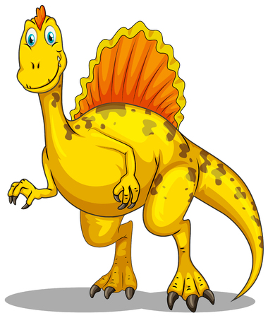prehistoric animals: Dinosaur with spikes on the back illustration Illustration