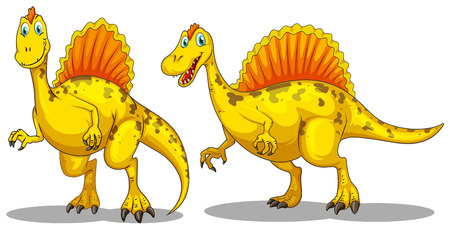 dinosauro: Dinosauro con affilato denti illustrazione