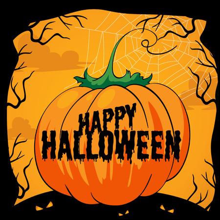 date night: Halloween theme with pumpkin illustration