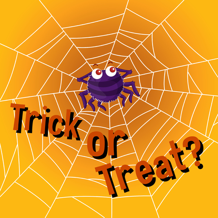 scary halloween: Halloween theme with spider web illustration Illustration
