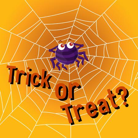 spider web: Halloween theme with spider web illustration Illustration