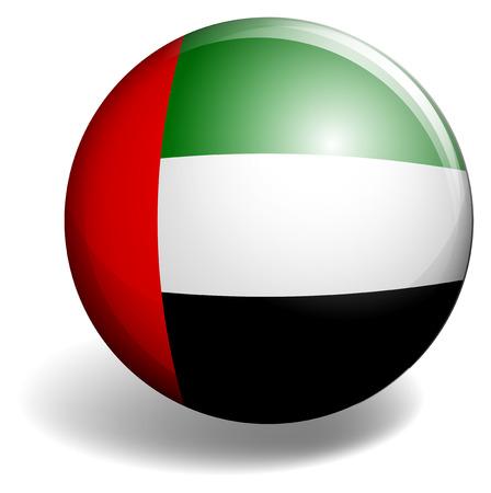 signal device: United Arab Emirates flag on round badge illustration