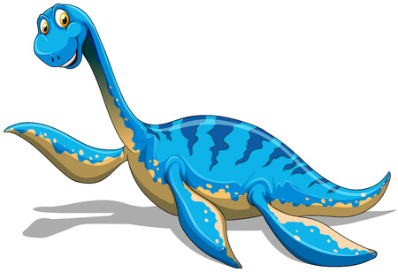 creature: Blue dinosaur with long neck illustration Illustration