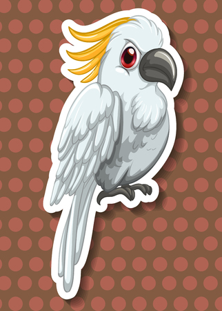 carnivores: White macaw with red eyes illustration