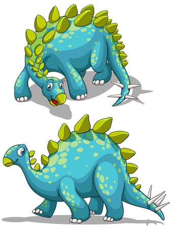 spikes: Blue dinosaure with spikes tail illustration Illustration