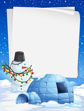 Blanco papier met Kerst thema achtergrond illustratie