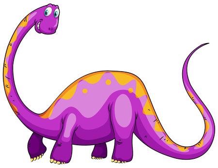 cuello largo: Dinosaurio p�rpura con la ilustraci�n de cuello largo Vectores