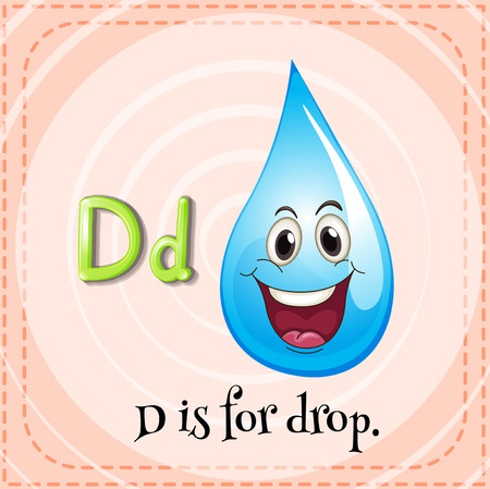 letter alphabet pictures: Flashcard letter D is for drop illustration