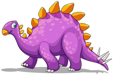 spikes: Purple dinosaur with spikes tail illustration