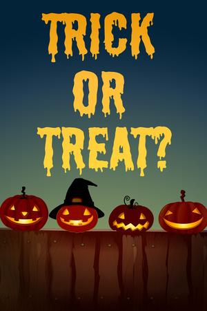 테마: Halloween theme with jack-o-lantern illustration 일러스트