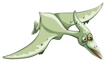 dinosauro: Dinosauro volare nel cielo illustrazione