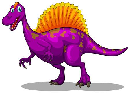 dinosauro: Dinosauro viola con artigli affilati illustrazione