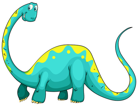 brachiosaurus: Green dinosaur with long neck illustration Illustration