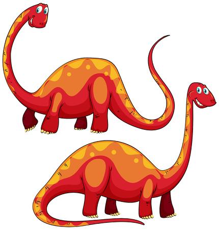 long neck: Brachiosaurus left and right view illustration Illustration