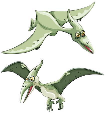 pterosaur: Pterosaur flying in the sky illustration