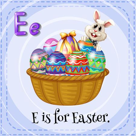 e alphabet: Alphabet E is for Easter illustration Illustration