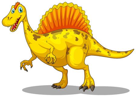 dinosauro: Dinosauro giallo con artigli affilati illustrazione