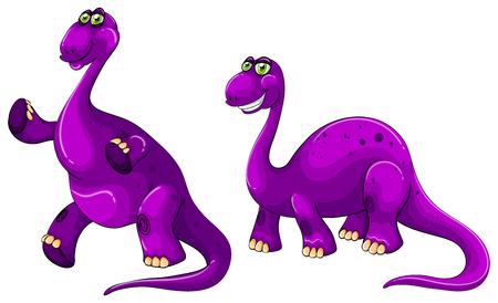 brachiosaurus: Purple brachiosaurus standing on two legs illustration