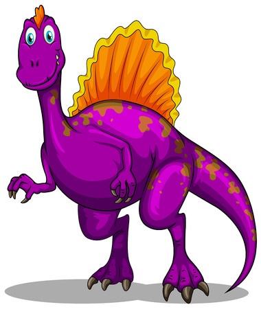 the claws: Purple dinosaur with sharp claws illustration Illustration