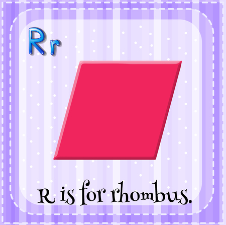 letter alphabet pictures: Alphabet R is for rhombus illustration Illustration
