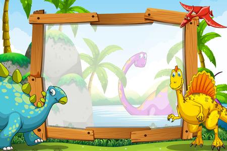 木造軸組図による恐竜
