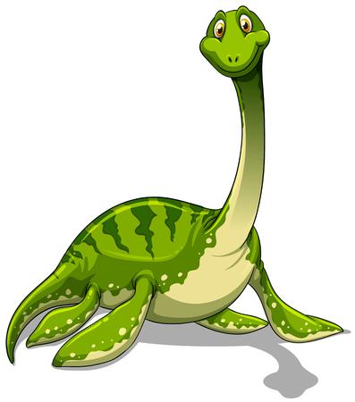 cuello largo: Brachiosaurus verde con ilustraci�n de cuello largo Vectores