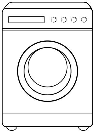 washing: Household object washing machine illustration