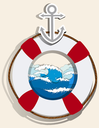 safety equipment: Anchor and safety equipment illustration