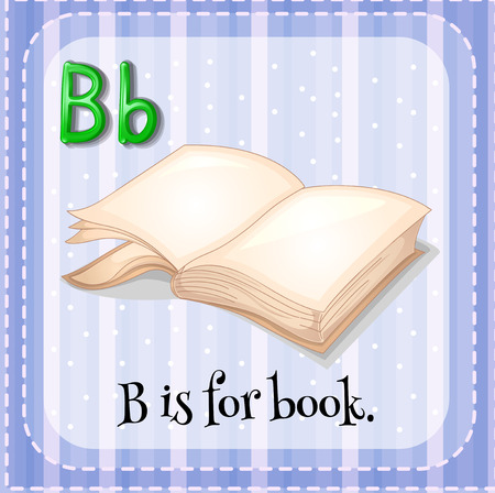spelling book: Flashcard B is for book illustration