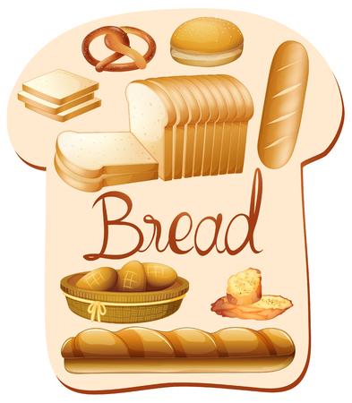 garlic bread: Different kind of bread illustration