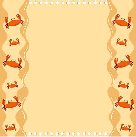 crabs: Paper design with crabs illustration Illustration