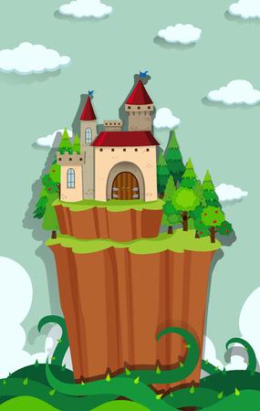 cliffs: Castle on the island illustration