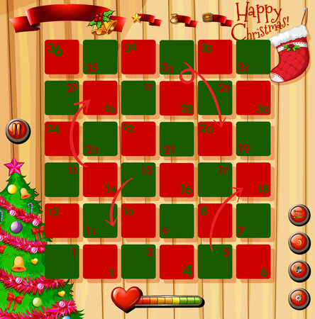 religious celebration: Christmas theme game with red and green illustration