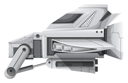 advanced technology: Advanced technology for spaceship illustration Illustration