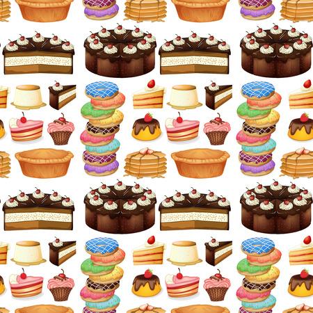 rebanada de pastel: tipo diferente sin fisuras de los postres ilustración