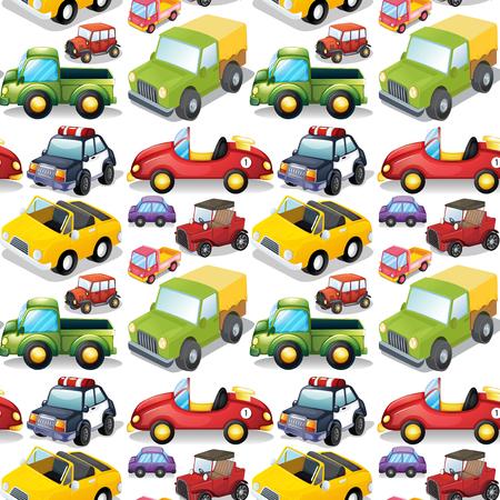 git: Seamless different kind of transportations illustration