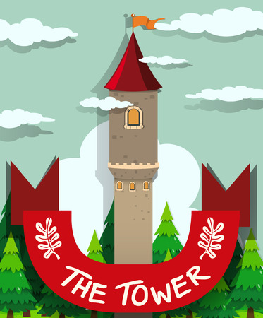 tall: Tall tower with single window illustration
