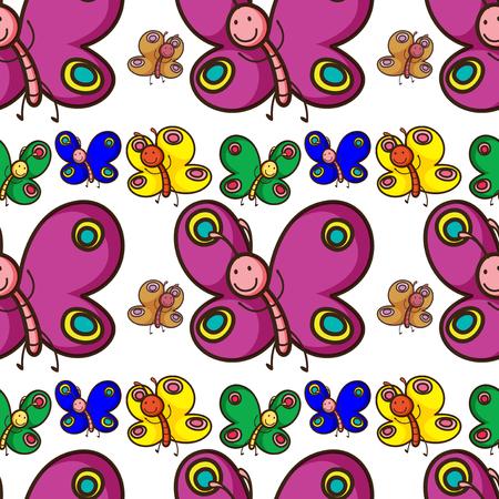 mariposas volando: Seamless colorful butterflies flying illustration