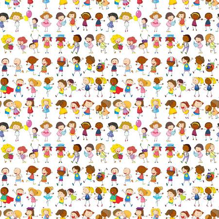 Enfants sans soudure faire des activités illustration Banque d'images - 50693621