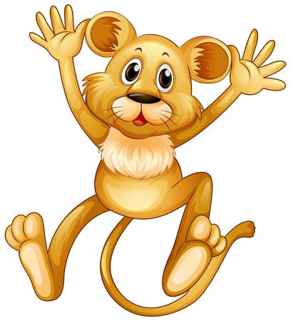 Lionceau sauter illustration