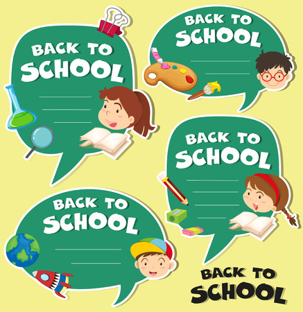 Back to school banner design illustration