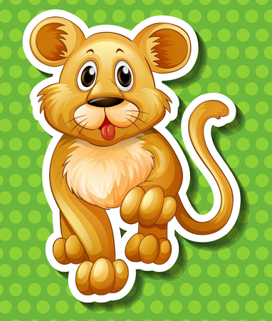 cub: Cute little cub walking illustration Illustration