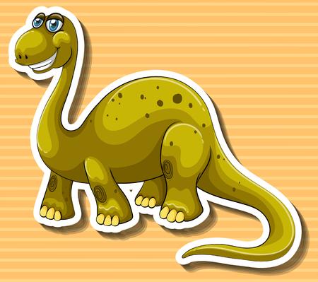 dinosaurio de color marrón con la cara feliz ilustración