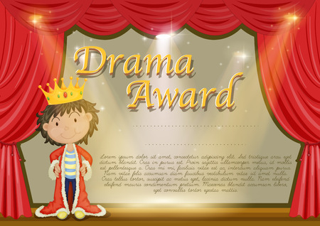 role play: Certificate template with stag background illustration
