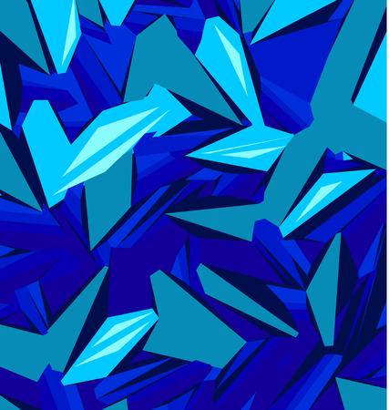 Diseño de fondo con diferentes tonos de ilustración azul Ilustración de vector