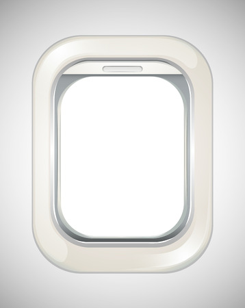 window view: Airplane window with no view illustration