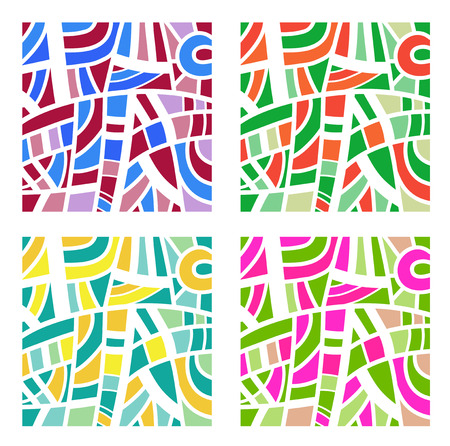 fine arts: Abstract background in four colors illustration Illustration